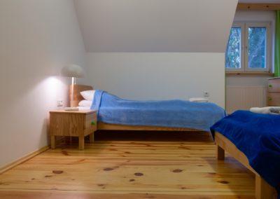ośrodek oddechowo domki sypialnia